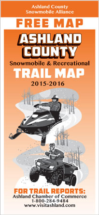 Ashland County WI Snowmobile Map