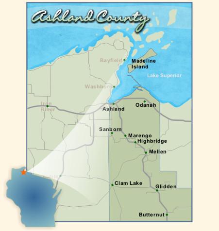 Area Map | Ashland County Wisconsin Tourism