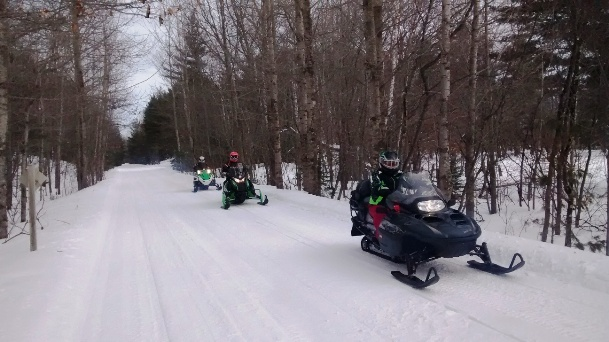 Snowmobiling in Ashland County is always an exciting adventure!